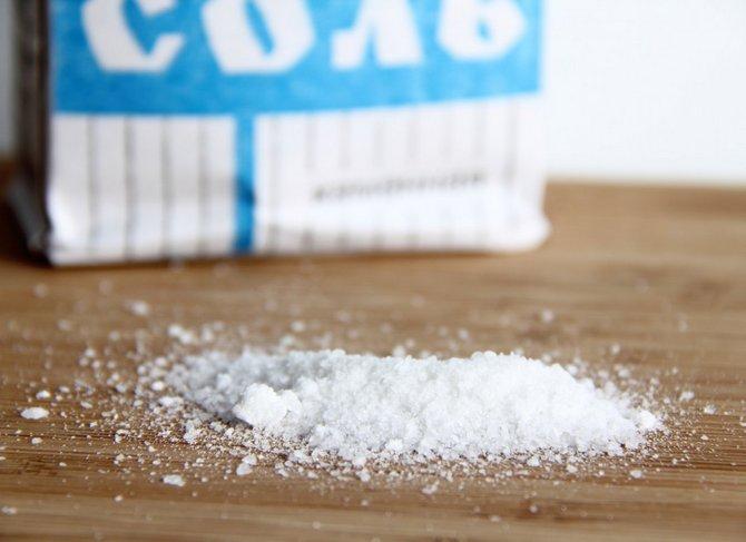 Соляной раствор – это прекрасное профилактическое средство от грибковых заболеваний.