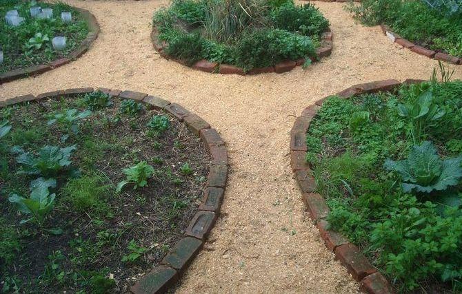 Покрытие из опилок между грядками на огороде или даче дает возможность передвигаться по земельному участку даже после дождливых дней.