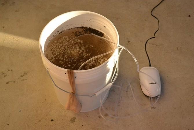 Как сделать аэрированный компостный чай