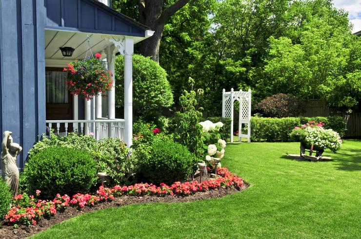 Как оформить красивый палисадник перед домом своими руками. Идеи, фото