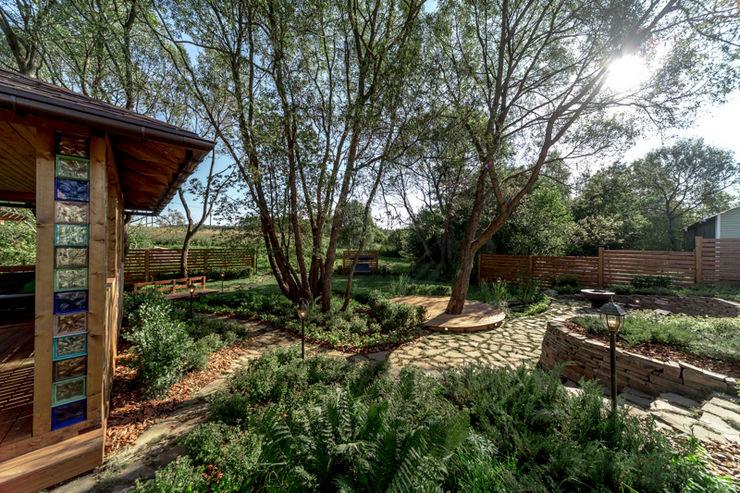 Высадка деревьев и высоких кустарников