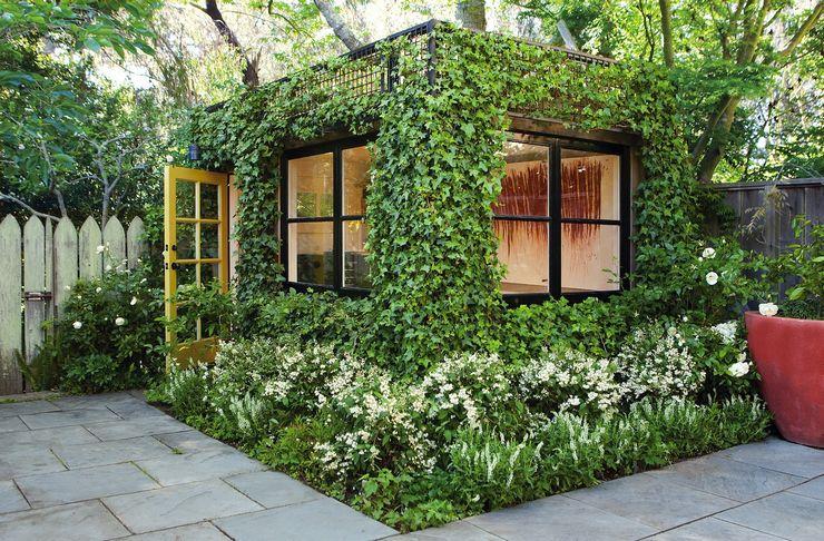 В большинстве случаев для объединения постройки с растительным окружением на участке применяется высаживание лиан