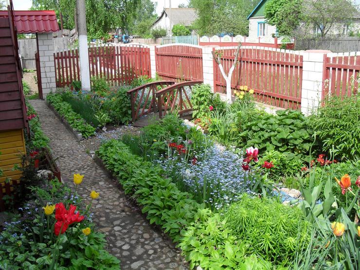 В зависимости от имеющейся земельной площади на даче цветник может быть круглым, овальным, прямоугольным или в форме эллипса